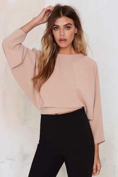 Nasty Gal cropped dolman