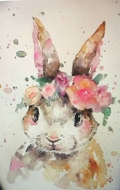 Now bring the painter in you come to life by creating this Animal Watercolor Painting diamond painting. Colorful Art, Art Painting, Animal Art, Watercolor Animals, Art Drawings, Painting, Bunny Art, Watercolor Paintings Easy, Bunny Watercolor