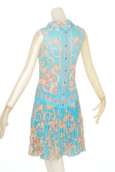 Gianni Versace Couture Turquoise and Terracotta Medusa Ensemble