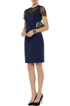 Jason Wu Wool-blend and lace dress - 55% Off Now at THE OUTNET