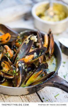 West Coast Mussels with Café de Paris Butter     The Pretty Blog