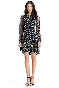 DVF Fionna Tiered Ruffle Silk Dress