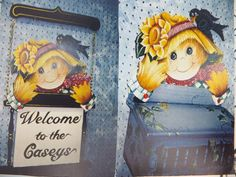 Not So Scary Scarecrow Mailbox or Welcome Sign by Suzy Stosberg Painting Pattern #SuzyStosberg