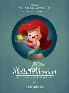 Kawaii Litlle Mermaid - Pequena Sereia (Princesa Ariel )