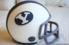 """Julie is my dear friend from my  childhood on Kauai. She lives in Idaho now... and she makes a mean cake! Check out her work on FB! BYU Helmet Grooms Cake!    Ah-May-Zing!! Check out """"Cakes by Julie Brizzee"""" on facebook!"""