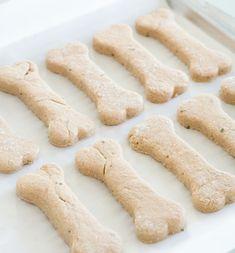 Homemade dog treats. Mix any baby food with any flour and bake. Wha-la.