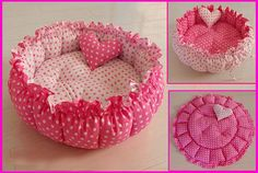 Handmade Pet Dog Cat Pet Bed Pumpkin Style by Simplyworld on Etsy, $25.00