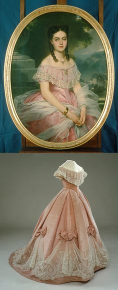 Portrait of Countess Anna von Hallwyl, 1865 by Boutibonne. Dress, 1865 by W. W. Ullberg & Comp. (See comments below for links to portrait and dress)
