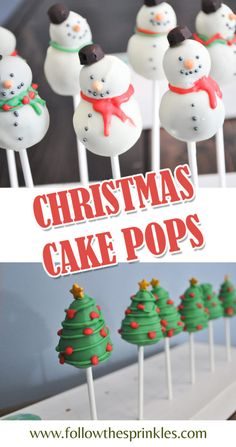 christmas cake pops, ideas for holiday baking. Easy home baking project. Time for holiday baking. Christmas cake pops are easy to make and totally adorable. Christmas Tree Cake, Christmas Cake Decorations, Christmas Snacks, Christmas Cupcakes, Holiday Cakes, Holiday Desserts, Holiday Baking, Christmas Baking, Holiday Treats