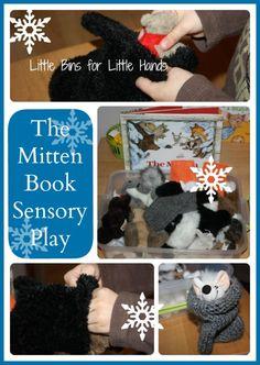 Sensory Play Activity for Book, The Mitten by Jan Brett (from Little Bin for Little Hands)