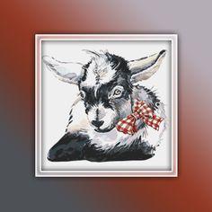 Baby Goat Cross Stitch Pattern 1 Instant PDF Download - Ram Watercolor Cross Stitch Pattern - Goat Cross Stitch Pattern Watercolor Horse, Watercolor Pattern, Booby Bird, Baby Goats, Extra Fabric, Baby Design, Cross Stitch Patterns, Free Images, Unicorn