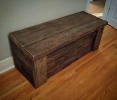Handmade Barn Wood Storage Trunk. SOLD. CAN BE ORDERED.  Saskatoon Saskatchewan…