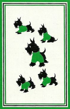 vintage playing card scotty dogs by Millie Motts, via Flickr
