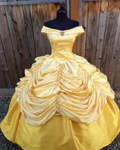 "Beauty in the Beast ""Belle"" ball gown. #Disney #princess"