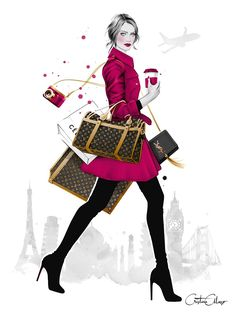 'Wanderlust' by illustrator © Cristina Alonso (www.cristinalonso.com).