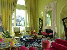 color verde llamativo para las paredes del salón