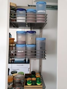 The key to cooking healthy meals is a well stocked pantry with air tight containers. My pantry organization with Tupperware ticked all the boxes for me. Pull Out Pantry, Pantry Organization, Tupperware, Storage Systems, Home And Garden, Diy, Innovation, Blog, Inspired