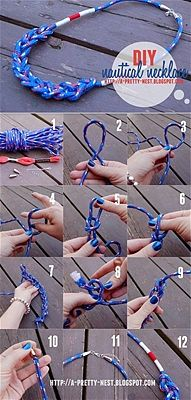 Set sail with this easy DIY nautical bracelet.