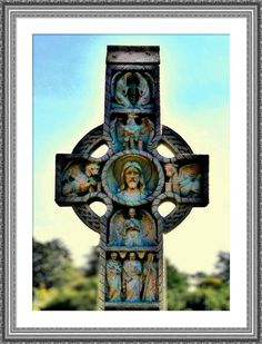 Victorian Cemetery Cross of Many Colors by twistedpixelstudio, $9.00