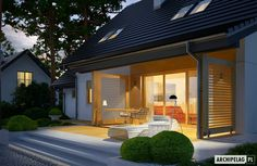 Dom energooszczędny ARCHIPELAG - Marisa III G1 ENERGO Planer, Sweet Home, Garage Doors, New Homes, Exterior, Mansions, House Styles, Garden, Outdoor Decor