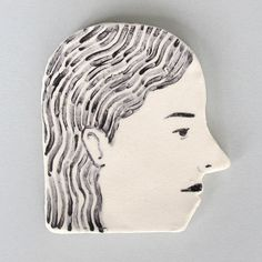 ceramic profile by RachelLevit on Etsy, $30.00