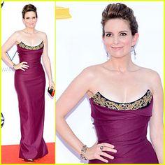 Por primera vez puedo tener a Tina Fey entre las mejores vestidas. ¡Deslumbrante!- #Emmys 2012 #RedCarpet