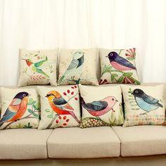 45cm-fresh-country-style-america-bird-cotton