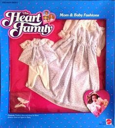 NEW ~ 1984 The Heart Family Mom & Baby Fashions Pinafore Dress Set #9598