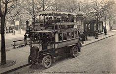 Certes, il n'y avait pas beaucoup de place, mais quelle allure quand même... (carte postale, vers 1910)