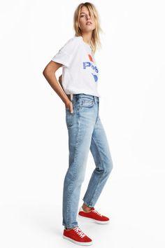 Straight High Waist Jeans - Azul denim claro - MUJER | H&M ES