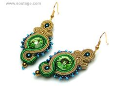 Green Door earrings by Sutasz-Anka