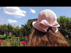 cappello Romantic Paris - YouTube Crochet Slippers, Knit Crochet, Crochet Hats, Sombrero A Crochet, Diy Crafts Knitting, Crochet Summer Hats, Romantic Paris, Crochet Fashion, Crochet Clothes