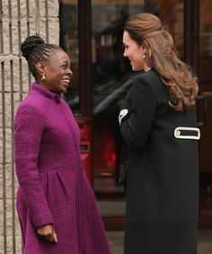 Catherine, Duchess of Cambridge and New York City Mayor Bill de Blasio's wife Chirlane McCray meet at Northside Center for Child Development on December 8, 2014 in New York City.