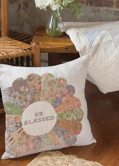 Christian Pillow - Quilted Wisdom Be Blessed
