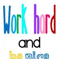 Work Hard & Be Nice...this site has tons of great FREE printables for school!