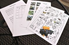 More than 50+ free nature printables along with a DIY nature notebook!