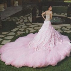 Swooning over this feminine romantic wedding gown! Ball Dresses, Bridal Dresses, Nice Dresses, Ball Gowns, Xv Dresses, Pink Gowns, Pink Dress, Beautiful Gowns, Beautiful Outfits