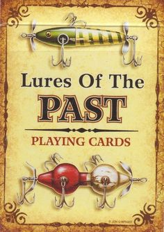 Antique Fishing Lures of the Past Playing Cards Fisherman's Stocking Stuffer