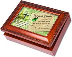 In the Garden Cottage Garden Wood Grain Finish Jewelry Music Box - Plays Song In the Garden *** See this great product.