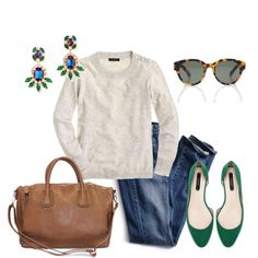 A fashion look from January 2014 featuring J.Crew sweaters, Victoria's Secret jeans and Zara flats. Browse and shop related looks.