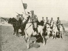German Cavalry contingent in South-West Africa (GW). WW I