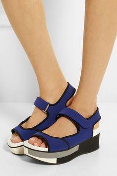 Marni, neoprene platform sandals, $830, available at Net-A-Porter.