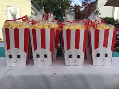 Homemade Poppycorn favors for Shopkins themed birthday party