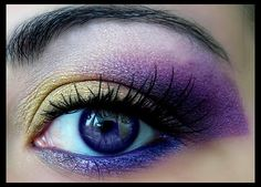 Pretty purple and gold Makeup!!!