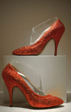 "The shoes of Marilyn Monroe in ""Gentlemen Prefer Blondes"""