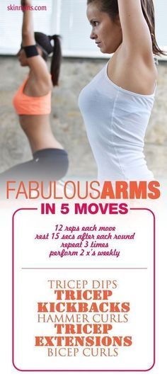 Fabulous Arms in 5 Moves. #workoutsforwomen #bicepworkout #tricepworkout #armworkout