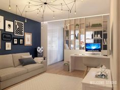 33 Amazing Studio Apartment Layout Ideas - Studio apartments are recent phenomenon and are intended for singles, professionals and students who cannot afford expensive big apartments. Condo Interior Design, Apartment Layout, Bedroom Design, Studio Apartment Decorating, Apartment Design, Small Apartment Interior, Home Decor, Apartment Decor, Apartment Interior