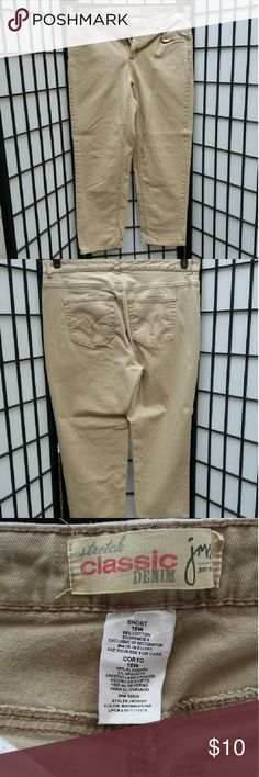 Jeans Just my size jeans,  tan,  16w short. Just My Size Jeans Straight Leg