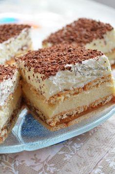Bizneswoman w kuchni: 3 Bit ciasto bez pieczenia - biscuit, caramel, custard and cream cake