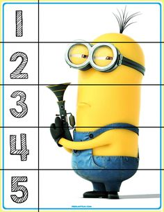FREE! Minions #1-5 Puzzles - Autism & Education
